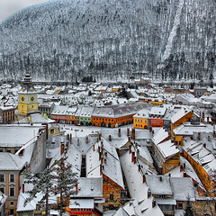 Winter urbanscape (23gxg) Tags: old travel winter urban house building history forest season town nikon village view historic romania fortress brasov urbanscape fantasticnature nikond40 flickrawards flickraward vertorama flickrestrellas flicraward outstandingromanianphotographers flickrthroughyoureyes