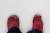 She wore red all winter long so the ambulance could find her quicker if she fell in a snow bank & also it hides dirt. ~Storypeople (katerha) Tags: snow ian andreas redboots storypeople onthebackdeck temperaturesrosetotheteenstodaybrrr