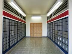 US Post Office - Merritt Island FL (Rusty Clark - On the Air M-F 8am-noon) Tags: lockers doors floor mail symmetry boxes walls