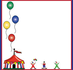 c309067_l (Charitini) Tags: carnival party vacation balloons tents background clown border tent invitation page clowns themepark attraction stationary bigtop stripedtent carnivaltent