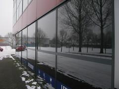 Mirror 2 (streamer020nl) Tags: winter snow holland reflection tree window glass car mirror spiegel nl reflektion reflectie