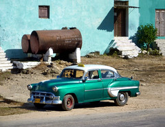 (areyarey) Tags: auto park street old travel vacation sun holiday green heritage classic chevrolet tourism car sunshine facade vintage town automobile shiny day fifties tank antique taxi traditional wheels transport cuba colonial culture retro wheeled american transportation trinidad oldtimer daytime caribbean 50s petrol cuban vinales touring tanks areyarey