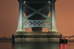 365 : 28 (paul drzal) Tags: bridge philadelphia night philly 365 benfranklinbridge eskepe