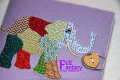 Sewing Needle Book/Needle Case (V Katerina V) Tags: elephant book sewing hard felt case needle machineembroidery 40woolfelt