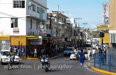 Jamaica-MoBay-Downtown-6351 (alison.toon) Tags: road street city people copyright architecture buildings town downtown photographer traffic streetscene jamaica montegobay alisontoon