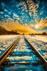 Winter Tracks 9325 (IanDMcGregor) Tags: winter sun snow canada train ian nikon day tracks rail railway sunburst rays saskatchewan hdr d800 mcgregor rokeby
