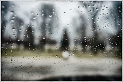 Rain drops on the window in the parking lot (leica1956) Tags: ohio nikon usaf dayton airforcemuseum d4 usafmuseum leica1956