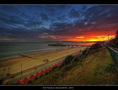 1.2013 - Bournemouth Pier.@.Frame (Pawel Tomaszewicz) Tags: sunset sea england sky seascape color english beach colors clouds sunrise canon landscape coast pier sand colours view jetty dorset coastline bournemouth dri molo hdr jurassic poole hdri jurassiccoast 5dmkii 5dmk2