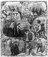 Saint_Valentine's_Day_1861 (hopekinney) Tags: valentinesday publicdomain saintvalentinesday blackandwhiteillustration