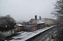 Bristol (jules hynam) Tags: winter snow cold ice station bristol railway snowfall montpelier