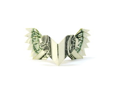 Winged Heart (Al3bbasi.) Tags: love paper origami heart object dollar valentines winged valentinesday al3bbasi