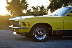 1970 Mustang Mach I (Matthew C. Photography) Tags: sunset ford car yellow photography cobra photoshoot muscle matthew c jet restored 1970 mustang mach 428 mach1 cobrajet i