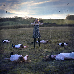past (*KirstenCampbell) Tags: portrait art look birds self different time watch fine cant clones innocence change conceptual distance past painful texturebybrookeshaden