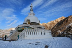 Shanti Stupa (Partha) Tags: blue winter camp india snow cold ice trekking trek river frozen extreme january zanskar february demanding himalaya porter ladakh iphotooriginal tibb chadar chadartrek trekthehimalaya
