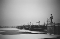 a (sashario) Tags: bridge winter blackandwhite bw cold love russia spb