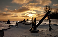 K7_13838 (Bob West) Tags: winter sunset ontario ice beach clouds lakeerie greatlakes 4c k7 southwestontario bobwest pentax1650f28