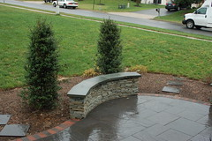 After - Seat Wall & Plantings (The Sharper Cut Landscapes) Tags: landscaping steps maryland patio laurel privacy paver smallspace plantings landscapedesign seatwall uppermarlboro hardscape ephenry entertainmentarea landscapecompany devonstone thesharpercut