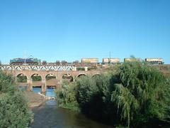 Tren elctrico de FEPASA (daniel_01986) Tags: tren puente eeg breda vias e32 cdf carga fepasa panguilemo locomotoraelectrica e3208 puentepangue