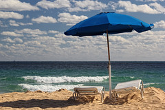Life's a Beach (sminky_pinky100 (In and Out)) Tags: travel sea vacation sky usa sun tourism beach america landscape sand florida fortlauderdale loungers beachumbrella omot exhibitionoftalent masterclassexhibition