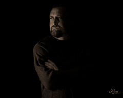 In the Shadows (Tami Hrycak ッ) Tags: lighting portrait people male sepia newjersey nikon shadows creative tami distinguished creativemoment d300s naturesgiftscaptured hrycak