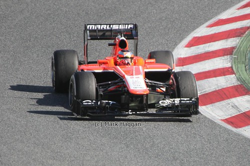 Jules Bianchi in his Marussia in Formula One Winter Testing, March 2013