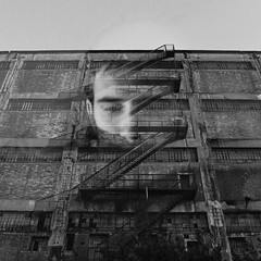 (Vasilis Amir) Tags: boy portrait blackandwhite building monochrome port exposure doubleexposure surreal double wreck  vasilisamir