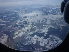 P1140259 (taigatrommelchen) Tags: snow window river germany airplane photo inflight view engine aerial neckar swr swu plochingen kirchheimunterteck 20130104