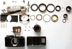 Olympus PEN D2 dismantled (Kong Zi) Tags: pen olympus clean repair shutter d2 disassembly cla dismantled