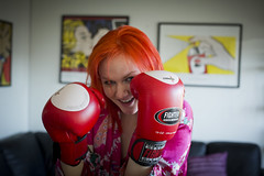 The red fighter (Thomas Grotmol) Tags: red girl oslo norway norge fighter redhead gloves boxing redhair rød jente rødt
