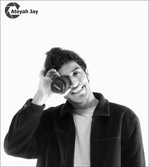 Ateyah Jay with B&W (Ateyah J. Hujaili) Tags: portrait bw white man black smile photoshop canon studio lens fun photography 50mm lights photo jay creative arab saudi arabia shutter kit 1855mm 1855 18 50 lightroom t3i ksa arabs yanbu   600d   2013         ateyah