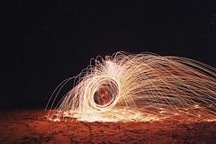 Steel Wool (Dirk Dallas) Tags: abstract wool lines night stars fire photography photo long exposure desert photos steel flames salt pic flats canon5d dslr streaks dirka dirkdallas