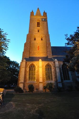 De kerktoren van Kapelle