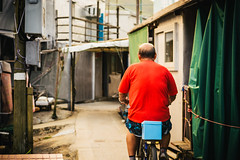 Red Biker (candersonclick) Tags: china vacation hongkong asia honeymoon lily streetphotography kowloon fishingvillage 2012 lantauisland lantau taio nikond600 tankavillage