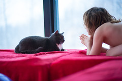 Lessons (Ludvig_Auclair) Tags: light cat canon fun photo kid student brother candid 85mm teacher tuxedo sharing learning knowledge 5d tele teaching lesson 18 5dc 5dclassic catkid