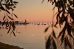 garda lake (Alessandra lazza) Tags: sunset lake tramonto pinksunset lagodigarda bardolino romanticsunset
