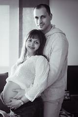Karin & Daniel (xmdmxhcx) Tags: blackandwhite portraits pregnancy maternity motherhood babyshower tenderness bellywoman ababyiscoming