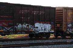 LM  Judge (Revise_D) Tags: railroad art graffiti judge tagging freight revised trainart fr8 benching fr8heaven