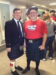 Michael attends James McQueen Public School's Easter Bunny Breakfast with school principal Mr. John Cassano
