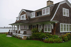 CT12P8520 (catnahat) Tags: brown house building architecture waterfront pentax gardening connecticut 19thcentury cottage newengland historical residence eastcoast stonington kx