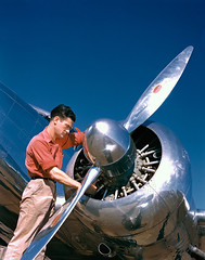 [Aviation Mechanic with Lockheed 12A Electra Junior] (SMU Central University Libraries) Tags: men airplanes kodachrome dallaslovefield petroleumindustry lockheed12 l12 lockheedaircraft electrajr aircraftindustry c40d superioroilcompany lockheedmodel12a mechanicspersons lockheedaircraftcorporation lockheedmodel12 uc40d byrdfrostincorporated byrdfrostairtransport aviationmechanicspersons