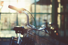 5/100 (jennydasdesign) Tags: bike bicycle backlight 50mm dof basket sweden bokeh grain beautifullight sverige cykel vrmland kristinehamn sonydslra300 cantcomeupwithagoodtitle dt50mmf18sam 100bicyclesproject