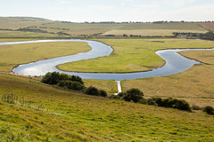 Bend in the Cuckmere   Seven Sisters walk   July 2016-43 (Paul Dykes) Tags: southdowns southdownsway southcoast coast cliffs sea shore coastal englishchannel sussex england uk seaside sun sunnyday chalk downs hills countryside