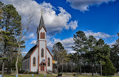 St  Boniface (Just Joe ( I'm back...sort of )) Tags: hss church catholic bluesky clouds usa arkansas scenic sunday outdoor trees happyslidersunday
