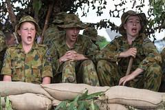 Cadets 2a - Jacaranda Parade 2015 (sbyrnedotcom) Tags: 2015 people events grafton jacaranda parade rural town cadets army singing male uniforms nsw australia