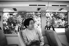 let's talk   let's take a trip II (sasha_han) Tags: publictransport friend friends best ofthem thankyou thanksgirls thanksfatties muchlove train bus empty public justthe2ofus asian asia chinese girl girls travel singapore trip otw ontheway explore exploring fun unedited bnw blackandwhite canon canon550d 550d amateur portrait portraits singaporean