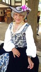 Lady Laurette Wellbeloved (Laurette Victoria) Tags: lady woman ladylaurette laurette bristol renfaire wisconsin costume pears necklace hat