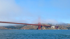 20160813_110530 (L Weiling) Tags: bridge bay sea water red fog goldengatebridge
