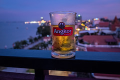 View from Le Sky Bar & Restaurant (stubzimages) Tags: nigh shot an angkor beer le sky bar grand mekong hotel phnompenh cambodia