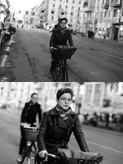 [La Mia Citt][Pedala] (Urca) Tags: milano italia 2016 bicicletta pedalare cicllista ritrattostradale portrait dittico nikondigitale mir bike bicycle biancoenero blackandwhite bn bw 881110