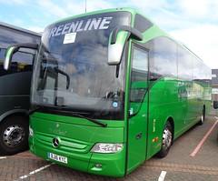 BJ16KYC Greenline in Blackpool (j.a.sanderson) Tags: bj16kyc greenline blackpool mercedes benz tourismo registered new april 2016 evobus coventry coach